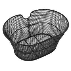 Cestino in metallo ovale anteriore retinato (Nero) mvtek
